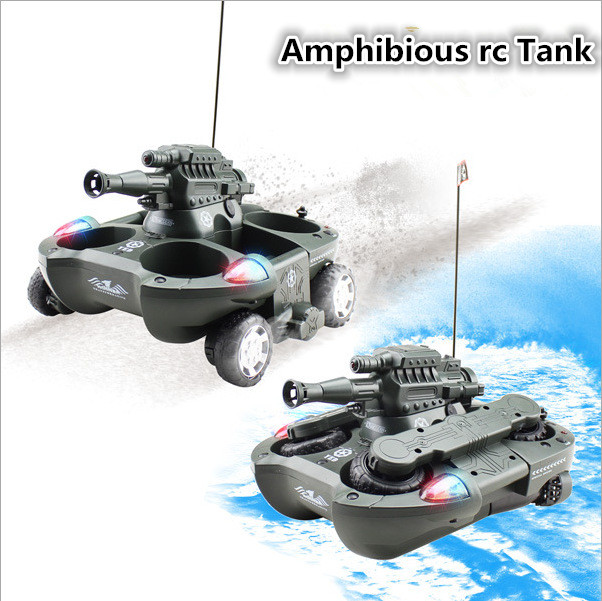 Hot sale 24883 4ch Amphibious shooting rc tank Fighting amphibious vehicles support launching a missile Amphibious rc tank car - 3