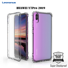 Leanonus Military Grade Shockproof Case for HUAWEI Y7 Pro 2019 Air Cushion Corners Protective Cover Y7Pro Soft TPU Capa