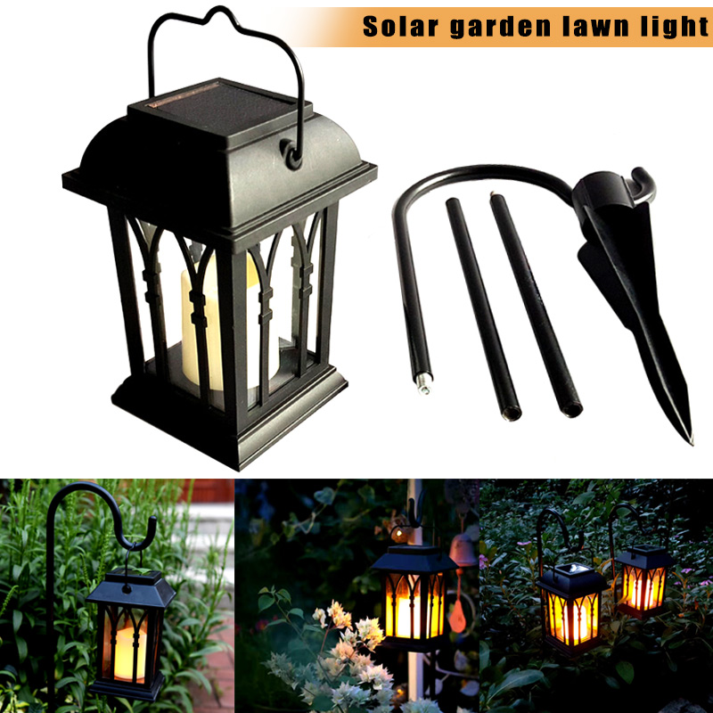 Solar Power Waterproof LED Candle Light Outdoor Garden Lawn Path Street Hanging Lantern Lamp CLH@8 teka hs 735