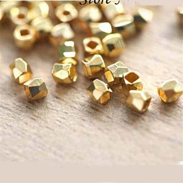 wholesale 200 600pcslot Faceted Metal Copper Gold Silver Rose Gold