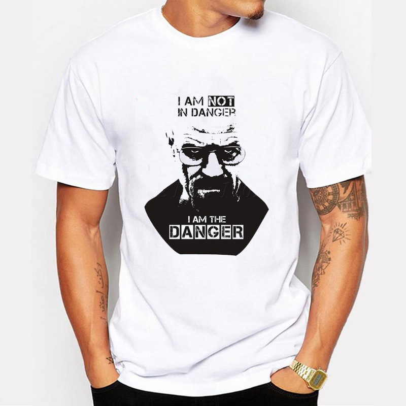 2018 New Fashion Style Breaking Bad Casual T Shirts Men I Am The One Who Knocks Heisenberg Men Tee Shirt Short Sleeve Basic Tops