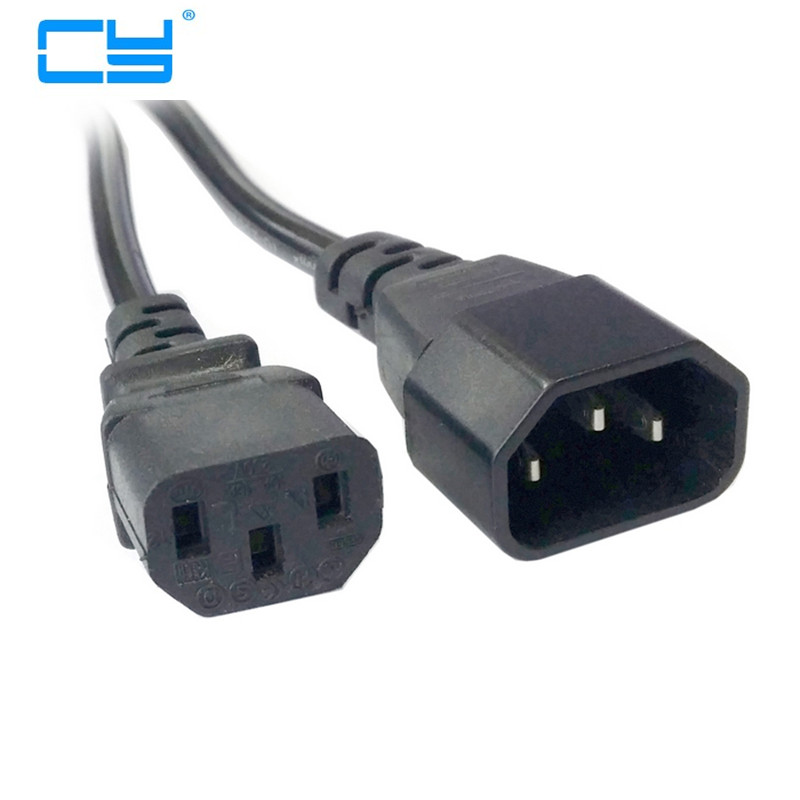 6ft 1.8m Male to Female PC Power Extension Cord Cable Wire IEC320 IEC 320 C13 to IEC C14 connector 6469294 1 connector
