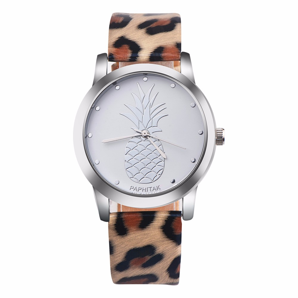 New Womens Pineapple Leather Band Analog Quartz Watch Ladies Rose Gold Dial Casual Female Sport Watches montre femme Clock 999New Womens Pineapple Leather Band Analog Quartz Watch Ladies Rose Gold Dial Casual Female Sport Watches montre femme Clock 999
