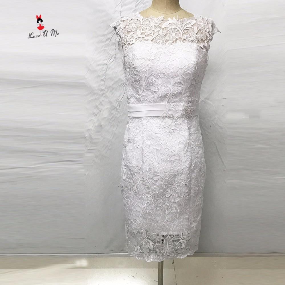Boho Kurzen Hochzeitskleid Spitze Mantel Knielangen Braut Kleider ...