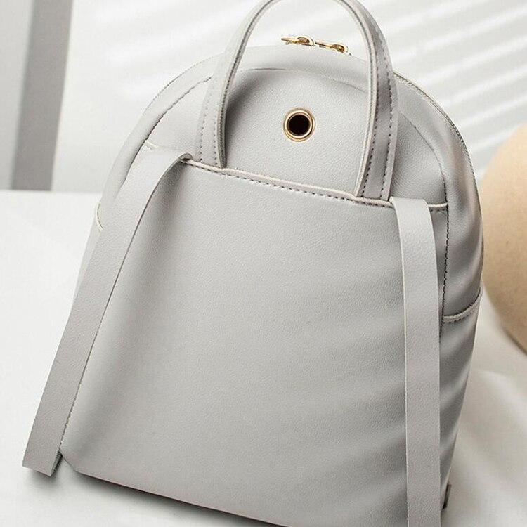 Patchwork Pu los Zipper Reisetasche Rucksäcke 60 Leder Teile Tasche Teenager Frauen Brief Rucksack Mode Kleine Geldbörse fCx0qI