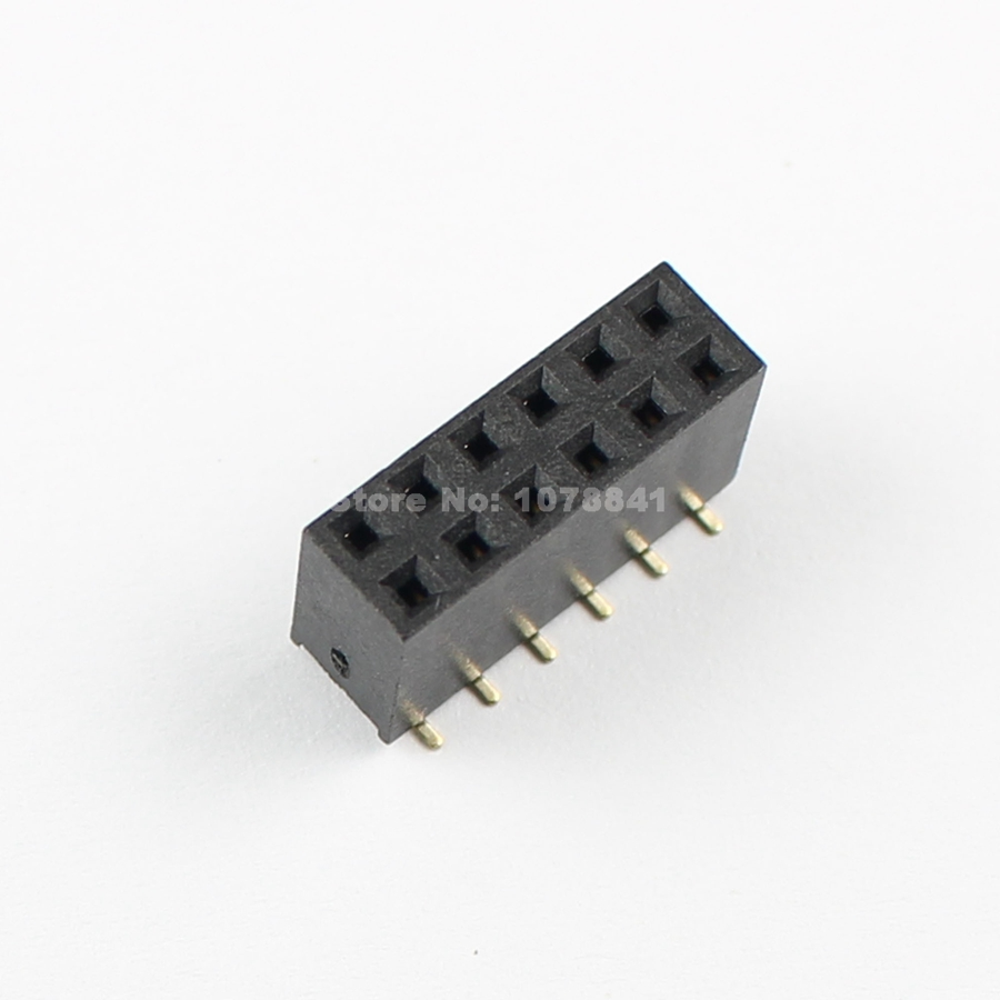 Lights & Lighting 50 Pcs Per Lot 2.54mm Pitch 2x6 Pin 12 Pin Female Smt Double Row Pin Header Strip