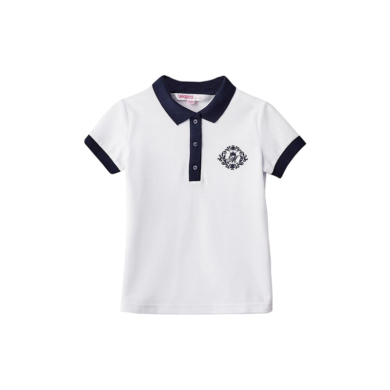 Polo Shirts MODIS M182K00111 for girls kids clothes children clothes TmallFS polo shirts modis m182k00285 for boys kids clothes children clothes tmallfs