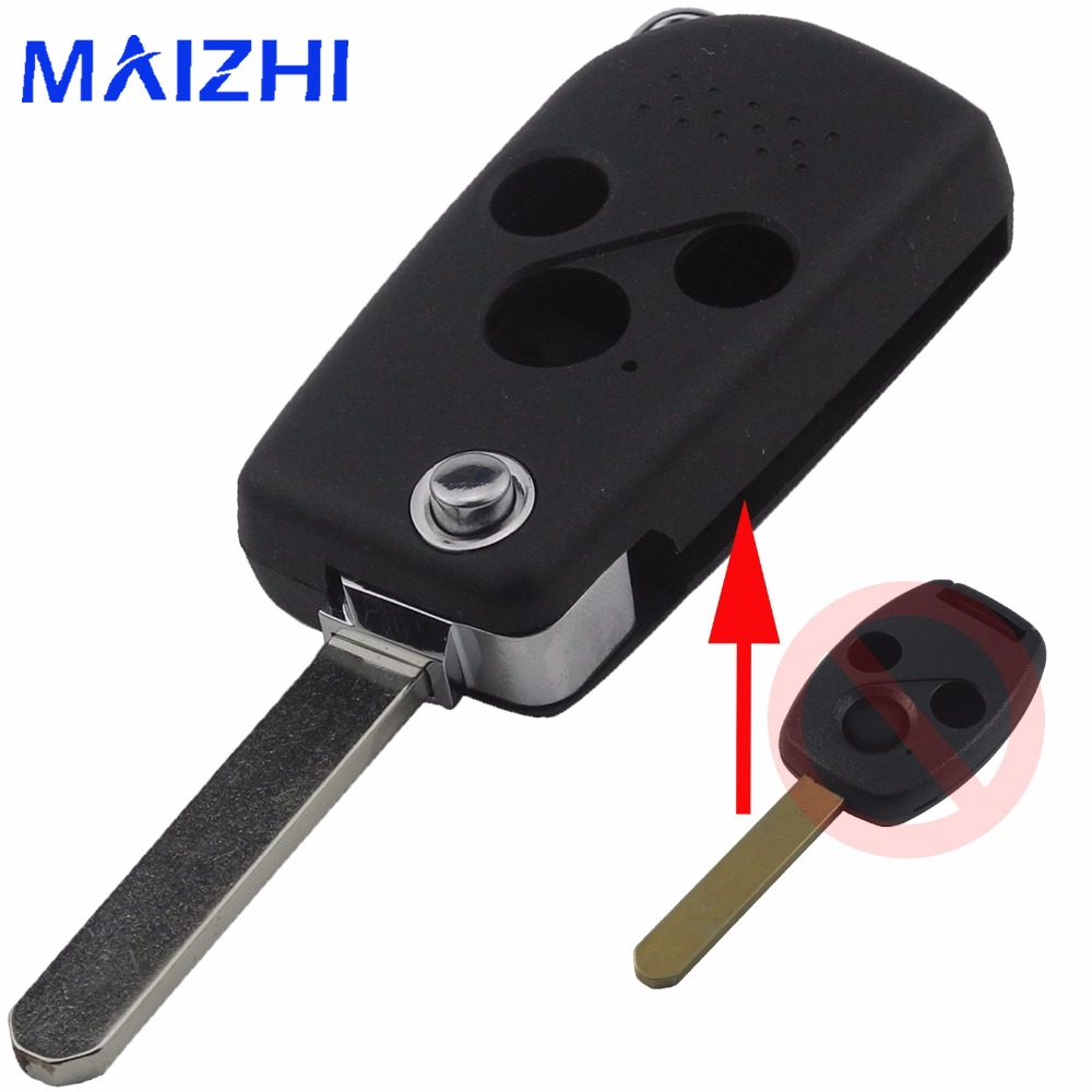 maizhi 3 Buttons Remote Folding Flid Key Shell for Honda ACCORD CRV CIVIC ODYSSEY Pilot Car
