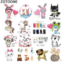 ZOTOONE Iron on Transfer Patches for Clothing Animal Rabbit Thermotransfer Clothes Decorative Accessories Diy Patch Cute E