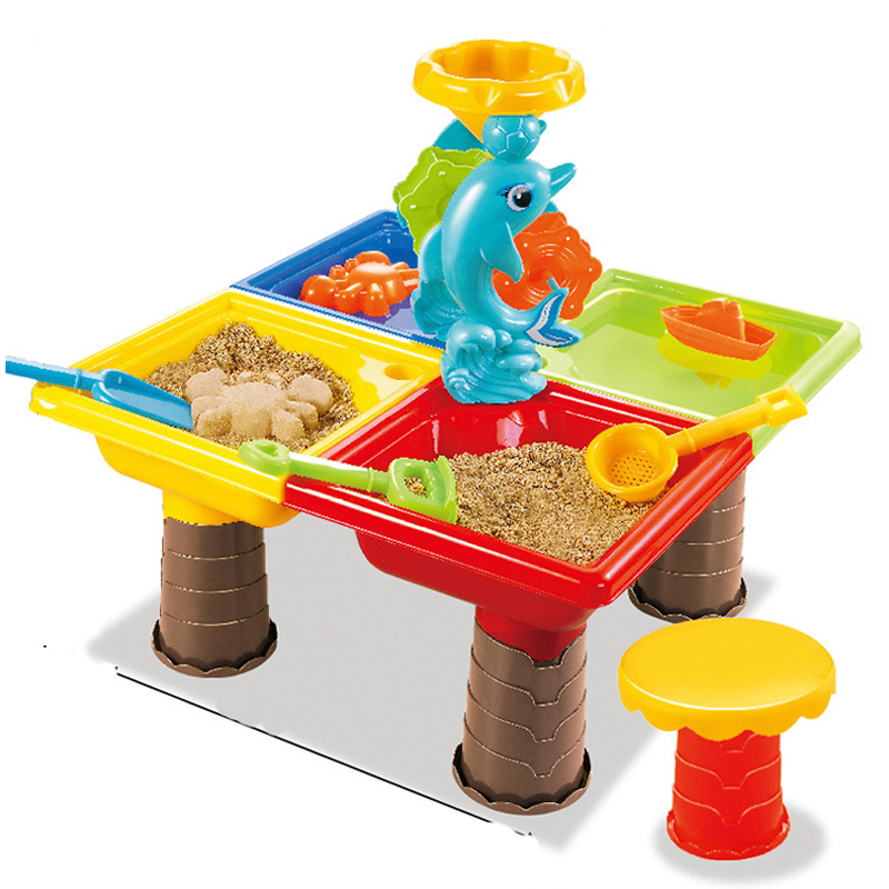 Children Beach Toys Suits Sand Table Tools Toys Water Toys Play House Summer Beach Tool Kids Brithday Christmas Gifts