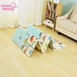 Image 2 - Infant Shining Reversible Baby Play Mat Cartoon Soft Mat Big Size 180*200*1CM Thickened Kids Rug Game Pad Playmat for Children