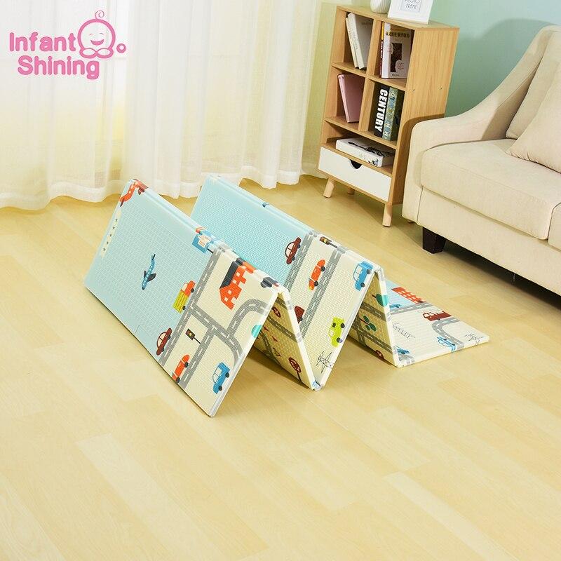 Infantile brillant réversible bébé tapis de jeu bande dessinée tapis doux grande taille 180*200*1 CM épaissi enfants tapis tapis de jeu tapis de jeu pour les enfants - 2