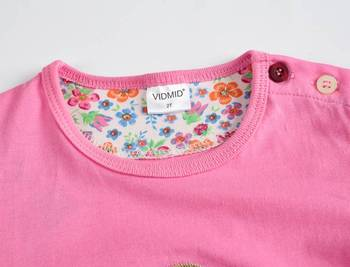 VIDMID Girl t-shirt big Girls tees shirts children blouse t-shirts big sale super quality kids summer clothes jacket rabbit pink 3
