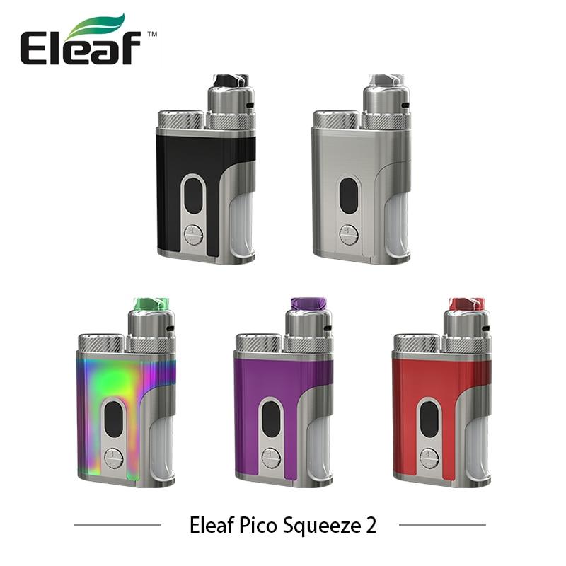 цена на Original Electronic Cigarettes Eleaf Pico Squeeze 2 Kit Pico Squeeze 2 with Coral 2 100w Squonker Box Mod Vaporizer 8ml Bottle