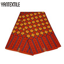 YANTEXTILE Real Wax Fabric 100% Polyester Woven African Print Ladies Ankara Dresses Wedding Patchwork