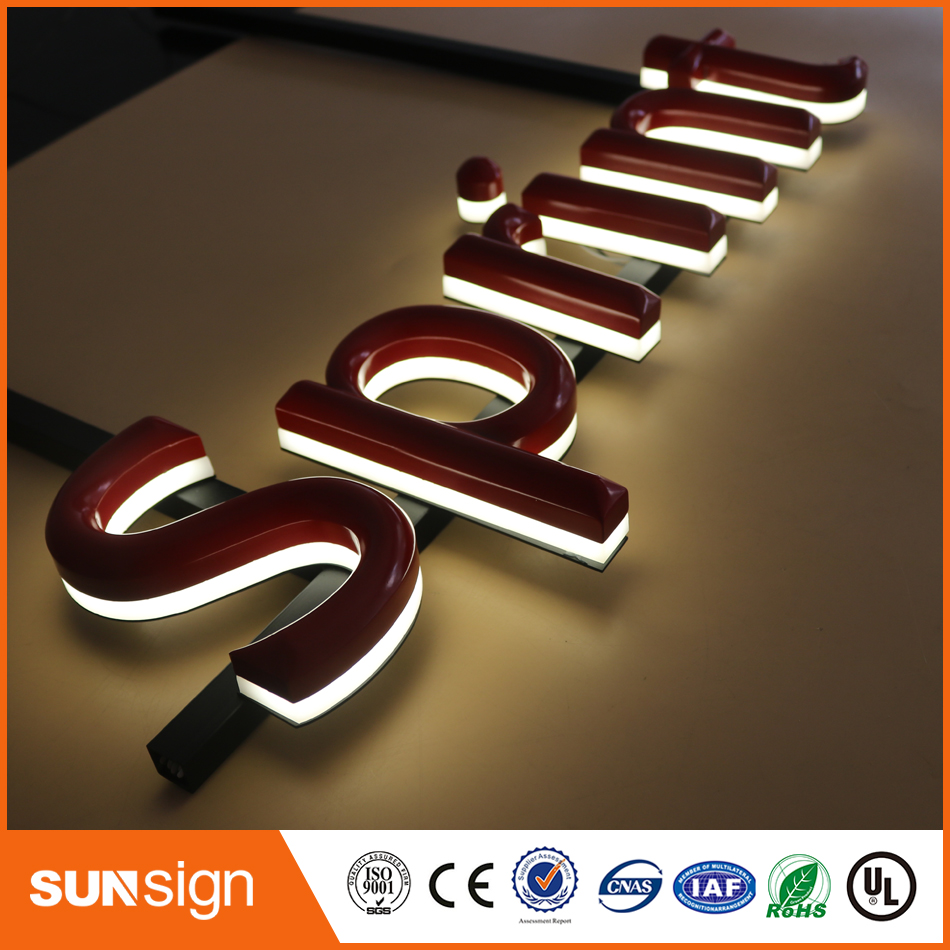 Outdoor Advertising Illuminated 3d Led Building Letter Sign