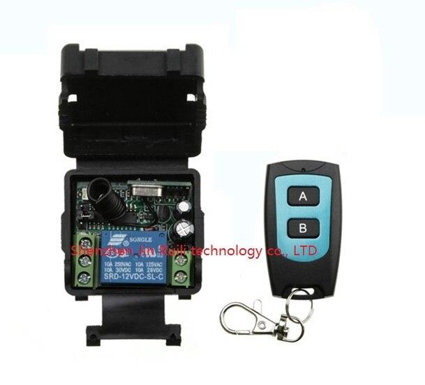 DC 12 v mini wireless remote control switch 1channal Intelligent family system 1X receiver+1X waterproof transmitter JRL-021