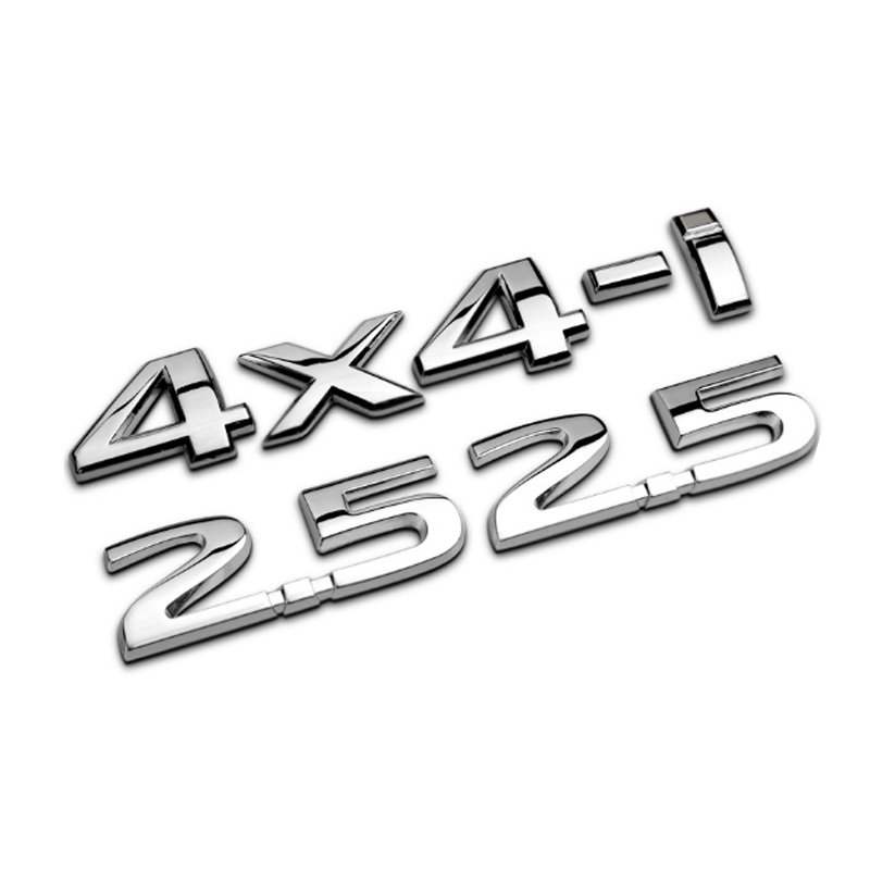 Dsycar 1Set 3D Metal 2.5 4X4-i Car Side Fender Rear Trunk Emblem Badge Sticker Decals for JEEP BMW Nissan Audi VW Ford Honda Kia