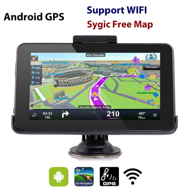 Eroad E16 HD 7 polegada Android GPS Do Carro Navegador de Navegação 16 GB Wi-fi Tablet PC 2016 Europa Do Norte/Sul Mapas da américa
