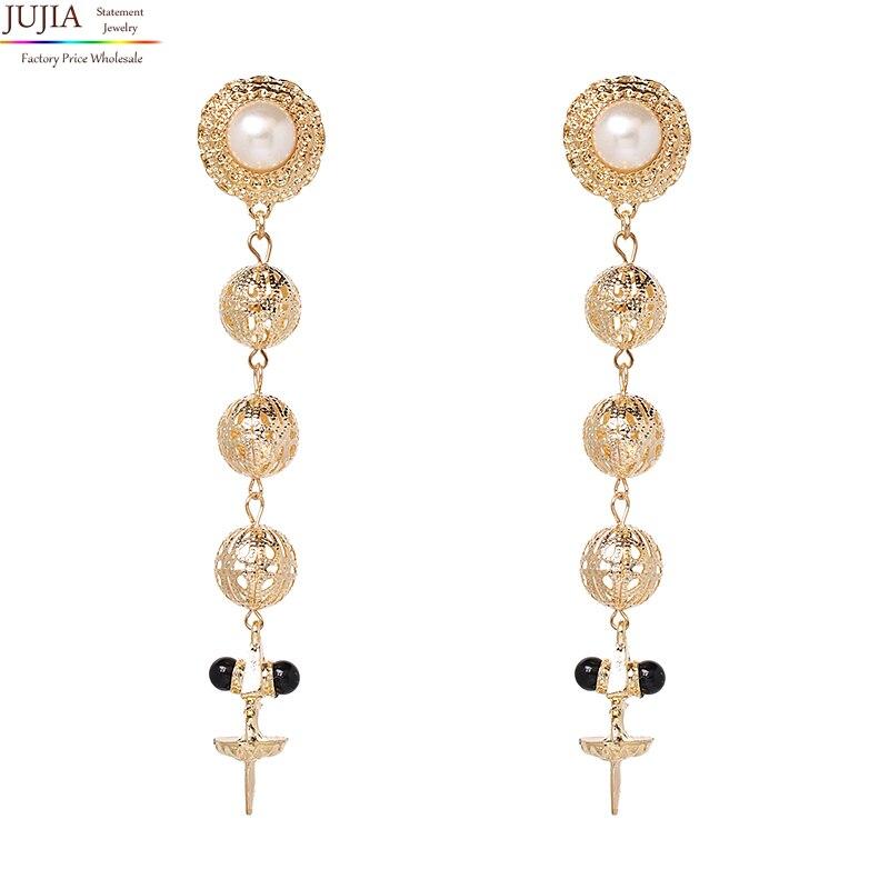 2019 JUJIA fashion hot sale women vintage statement tassel Earrings for women jewelry Factory Price