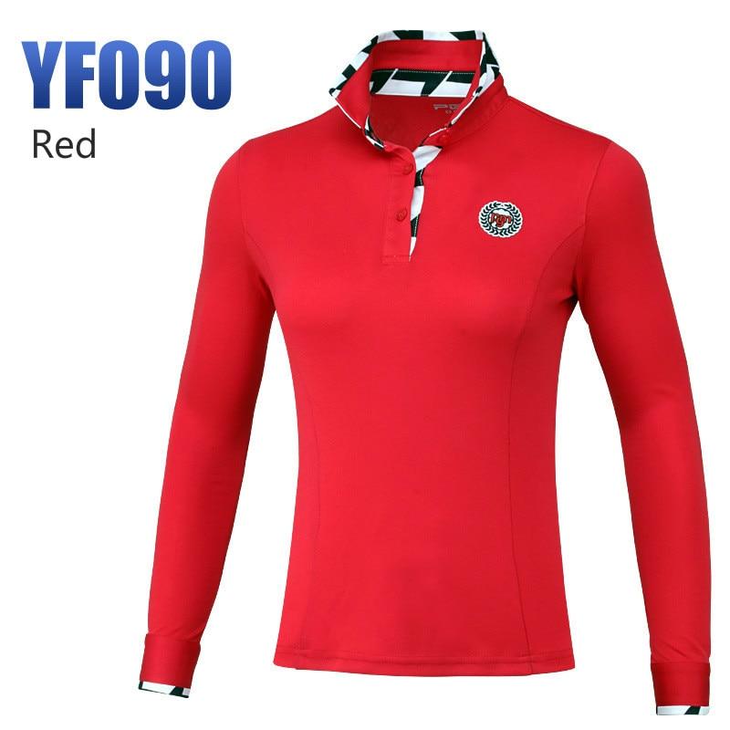 PGM продукты стиль дамы футболки высокие эластичные гольф с длинными рукавами женские трикотажные изделия тонкая спортивная одежда для женщин размер s-xxl - Цвет: one