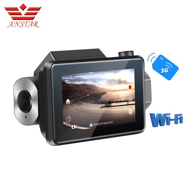 ANSTAR Dash Cam smart Car 3inch 1080P HD Video Recording With WIFI Function Rear View Camera Parking Monitoring Dash Camera