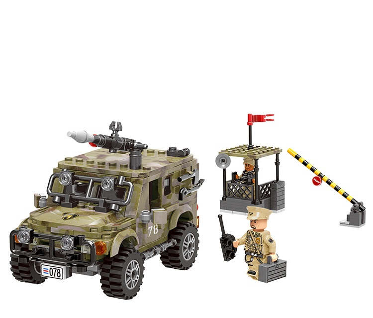 Army Classic City Military Military Jeep Car Building Blocks Bricks Model Kids For Children Toys Marvel Compatible Legoings Gift 6727 city street police station car truck building blocks bricks educational toys for children gift christmas legoings 511pcs