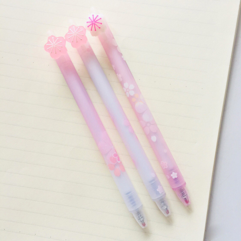 0.5mm Blue Ink Gel Pens Cute Cherry Pens Kawaii Erasable Pens For Kids Girls Gift School Office Supply Korean Novelty Stationery