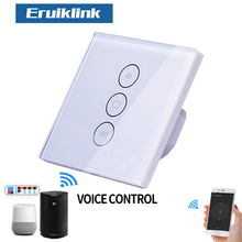 Tuya Smart Life WiFi Curtain Blinds Switch for Electric Roller Shutter motorized Voice Mobile Remote Control Wall Touch Switch