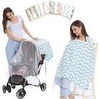 Mosquito Net for Baby Stroller Nursing Cover Multifunctional Breastfeeding Cover Newborn Baby Nurse Cape Nursing Cloth 2 layers