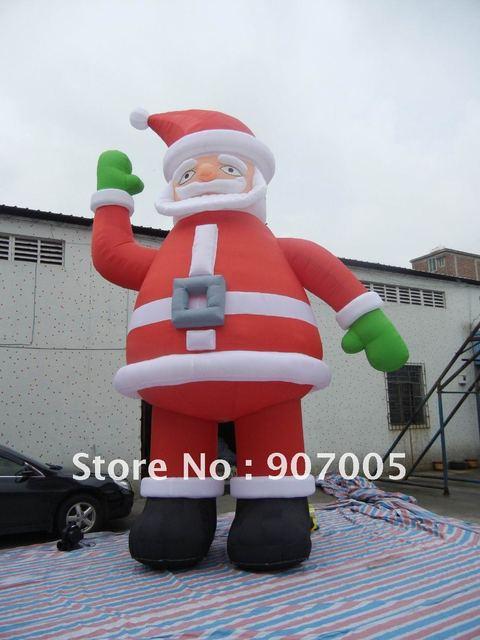 10mH 'Хорошее Качество Улице, парк, двор Надувные Новогодние Украшения Надувные Рождество Санта-Клаус