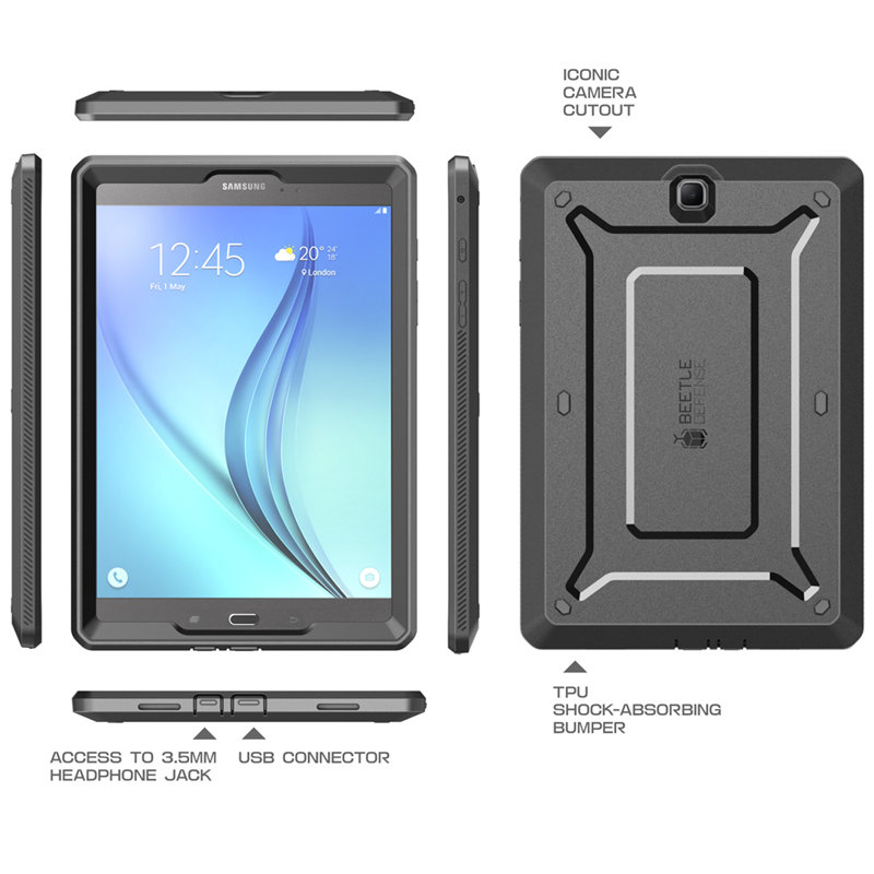 For Samsung Galaxy Tab A 9.7 Case UB Pro Full-Body Rugged Hybrid Protective Defense Case With Built-In Screen Protector