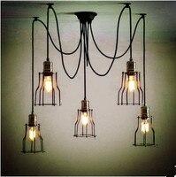 Edison Стиль Лофт Промышленные лампа Винтаж Открытый Подвесные Светильники светильники столовая Lampen висит свет Lamparas colgantes