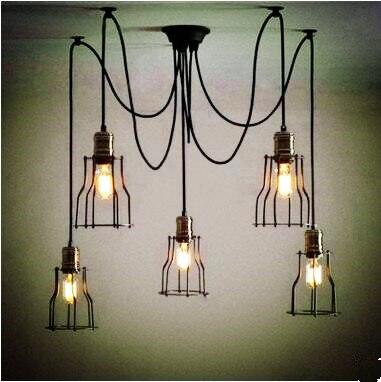 edison style loft industrial lamp vintage pendant lights fixtures dinning room lampen hanging