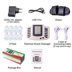 Image 5 - Estimulador muscular elétrico, conjunto de acupuntura com 8 elétrico para relaxamento do corpo, massageador muscular + caixa