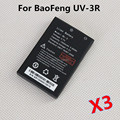 3pcs 100% Brand new 3.7V 1500mah Li-ion Battery for BaoFeng UV-3R Two way radio