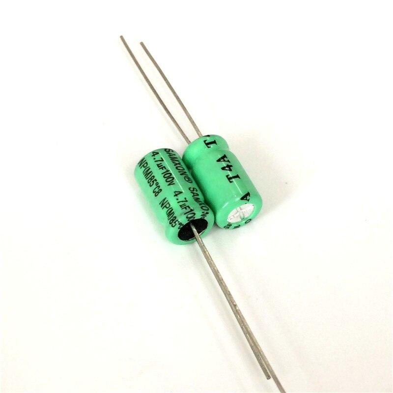 10pcs 4.7uF 100V SAMXON NP Series 6.3x11mm 100V4.7uF Bipolar Electrolytic Capacitor