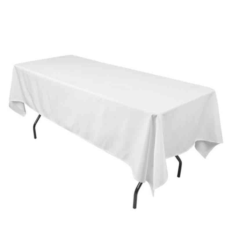 100% polyester table cloth good quality table cover for hotel banquet white table cover wedding party decoration 160*240 cm