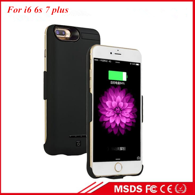 separation shoes c098c fd1f7 US $24.88  8000 Mah High Capacity Fashion Battery Case For Apple iPhone 6  6s Plus iphone 7 Plus Battery Charger Case Power Case Bank-in Battery ...
