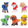 Crianças Presentes Brinquedos Figura Com Caixa de Embalagem de Filme Americano Figura Patrulha Patrulha do Filhote de Cachorro do animal de Estimação MARSHALL PERSEGUIÇÃO Patrouille Canino
