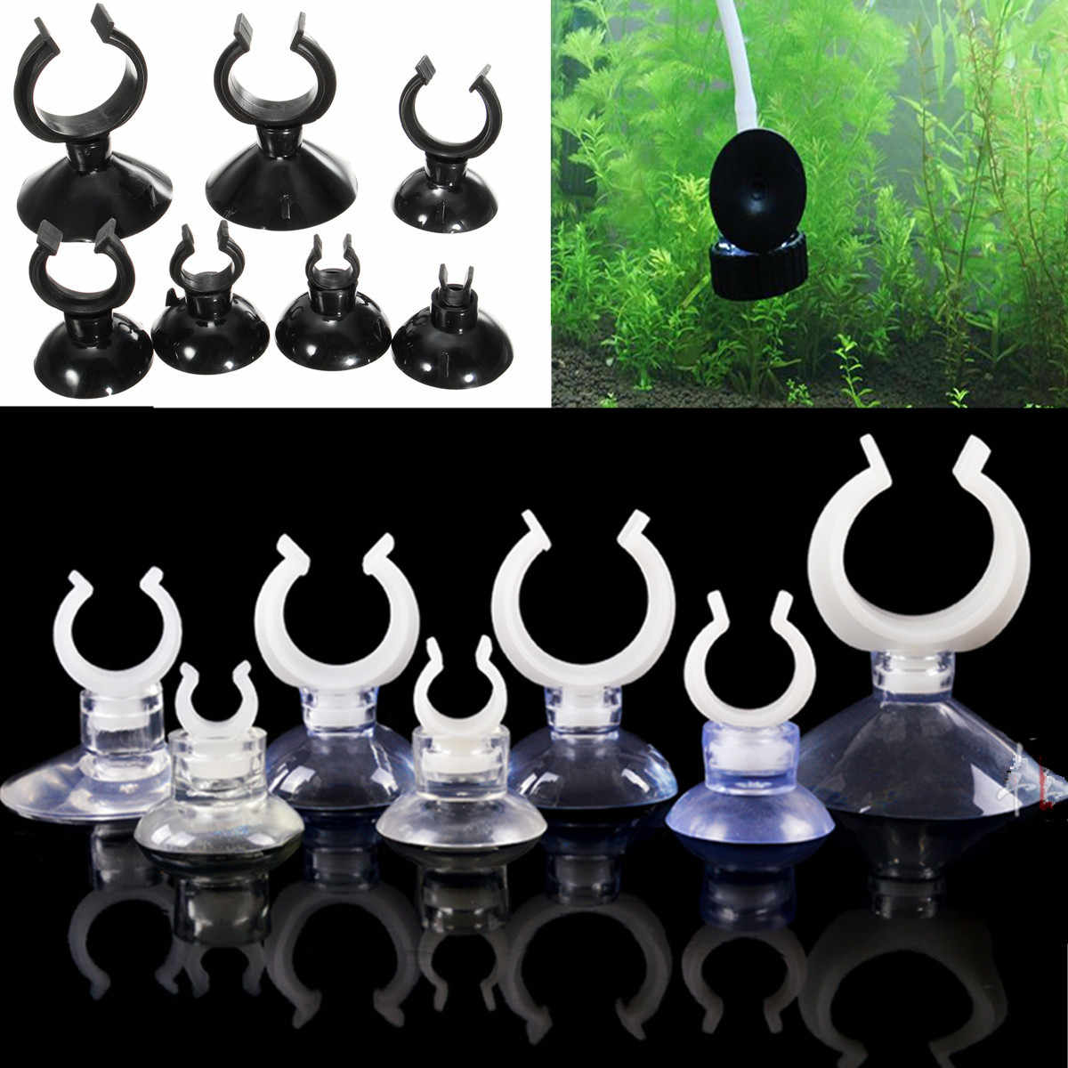 10pcs Aquarium Fish Tank Suction Cup Heating Sucker Clips Holders For Air Line Oxygen Tube Hose Pump Double Sided Suction Cups