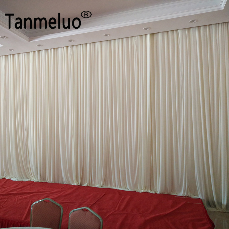 3 6M Pure Simple White Fabric Backdrop Drapes Curtains Wedding Ceremony Event Party Photo Booth Home
