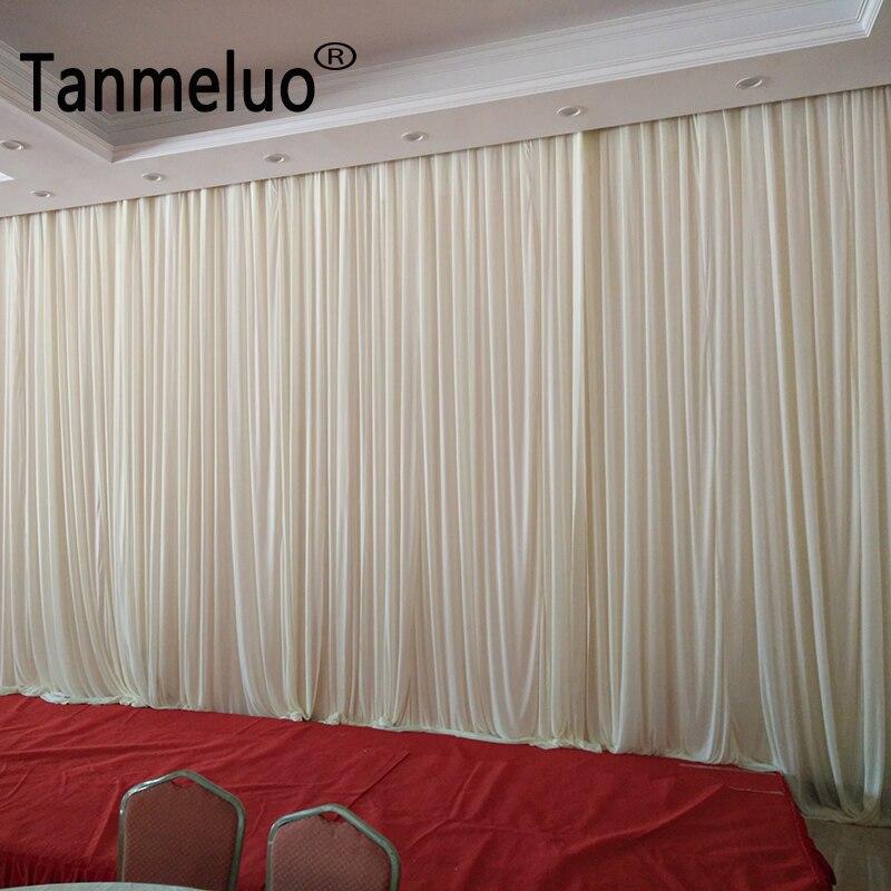 3*6 M pur Simple tissu blanc toile de fond rideaux de mariage cérémonie événement fête Photo stand maison fenêtres rideaux décoration