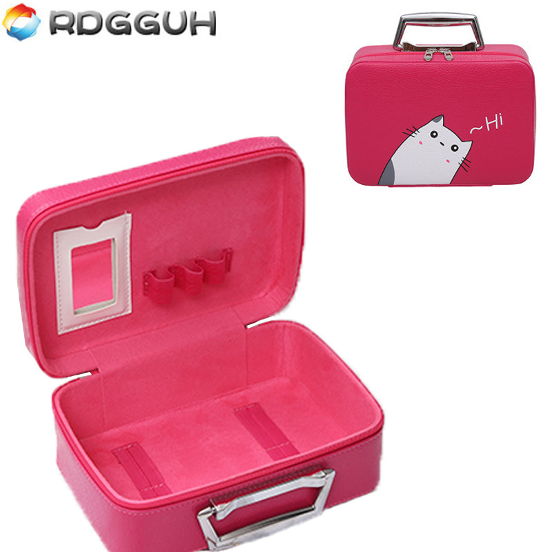 RDGGUH Fashion Cosmetic Bag Toiletry Kit Wash Necessaire Travel Organizer Bag Beauty Pouch Makeup Bags Professional Make up Box lady s travel wash cosmetic bags brushes lipstick makeup case pouch toiletry beauty organizer accessories supplies products