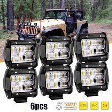 9D COLIGHT 6 PCS 4 polegada LEVOU Barra de Luz de Trabalho 30 W Levou Bar Combo Auto Condução Luz de Nevoeiro para a Motocicleta Da Bicicleta 4×4 Barra ATV Toyota 12 V
