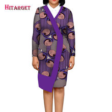 2019  Hitarget African dashiki Dresses for Women ankara wax Print long coat WY5016 african tops print dresses