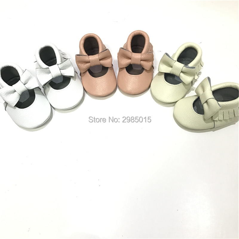 Spring Soft Sole Girl Baby Shoes Genuine Leather baby Moccasin High quality Fashion bow Baby Girl Shoes First Walkers