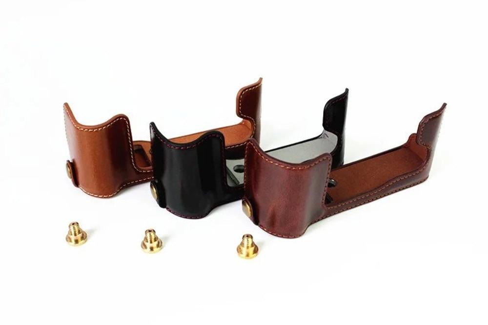 Leather Half Case for Fuji Fujifilm X-T20/XT20/X T20 Digital Camera Brown/Black/Coffee