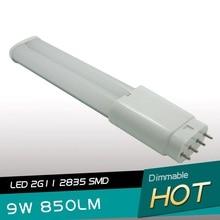 Newest 2G11 led PL light 232mm 9W tube 327mm 12W 4pin lamp SMD2835 AC85-265V DHL free shipping
