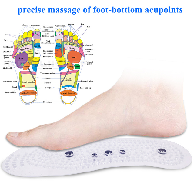 Magnetic Therapy Insoles for Slimming Weight Loss Foot Massage Health Care Shoes Mat Pad Acupuncture Shoe Sole insert 2